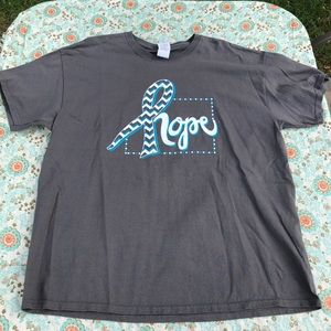 Gray Breast Cancer Hope Tee